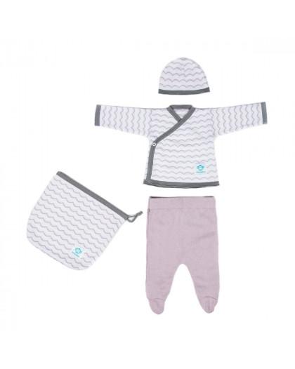 Newborn Pack Ondas Pink White