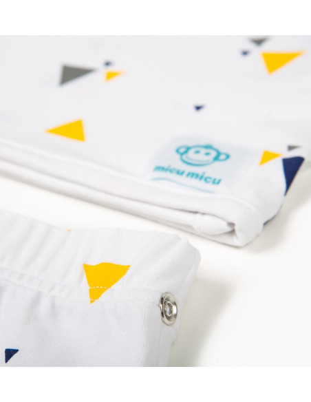 Pack Recien Nacido Triangulos-Blanco