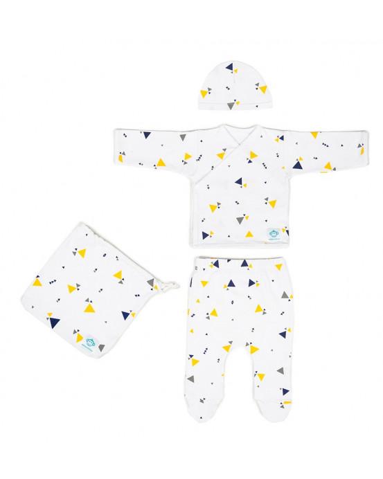 Newborn Pack Triangulos-White