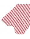Onesie Striped Raw Red