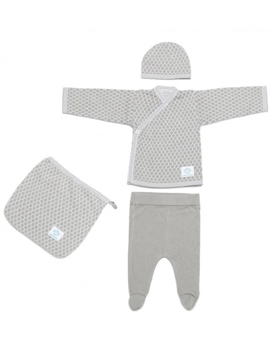 Newborn Pack Abeja Grey