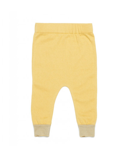 Pantalon Punto Rayas Ocre