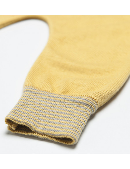 Knitted Baby Pants Rayas Ocre
