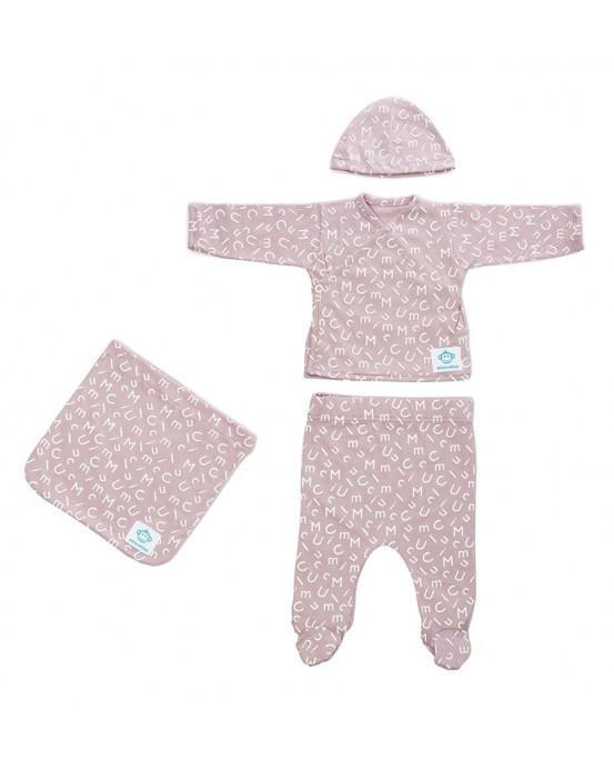 Newborn Pack Letras Pink