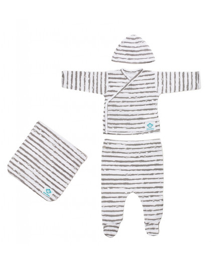 Newborn Pack Rayas Grey