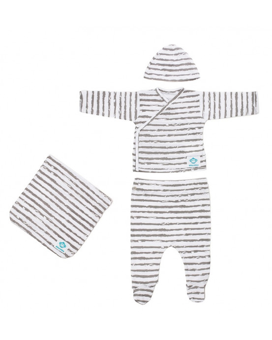 Newborn Pack Rayas Grey