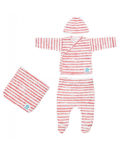Newborn Pack Rayas Red