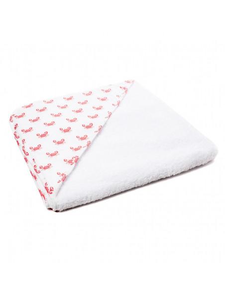 Towel Cloak Crancs White Red