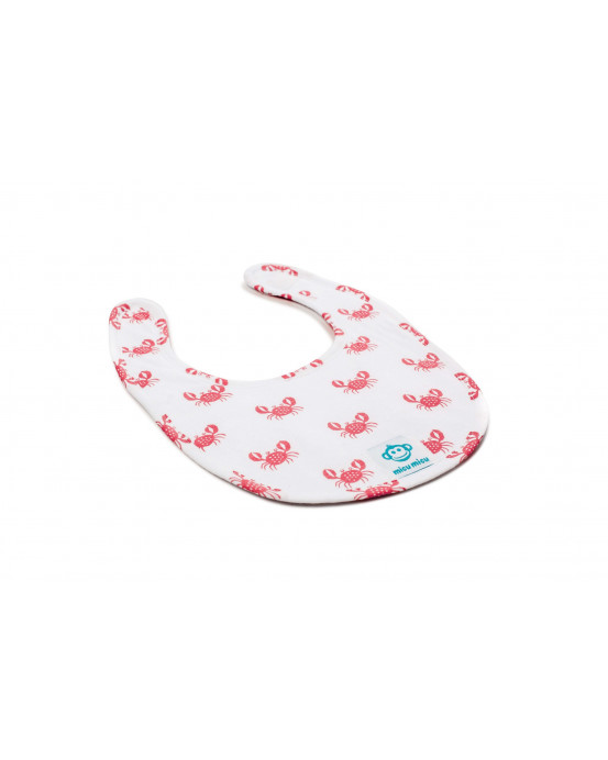 Small Baby Bib Crancs Red