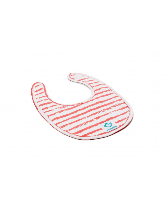 Small Baby Bib Rayas Red