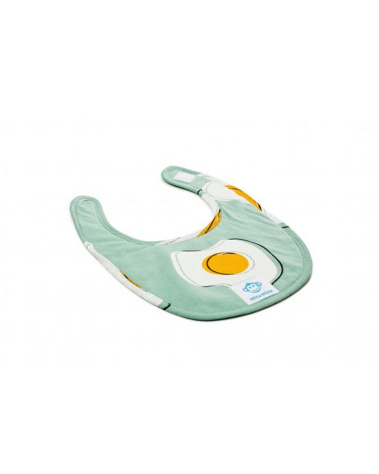 Small Baby Bib Eggs Mint