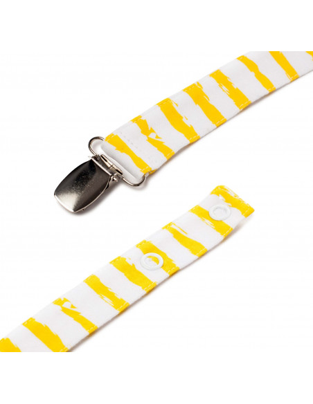 Pacifier Clip Rayas Ocre