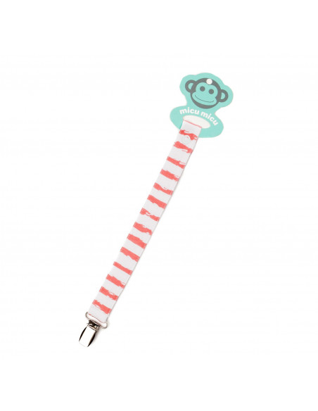 Pacifier Clip Rayas Red