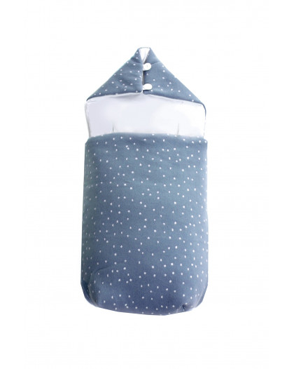 Knitted Baby Sack Dots Dark Grey